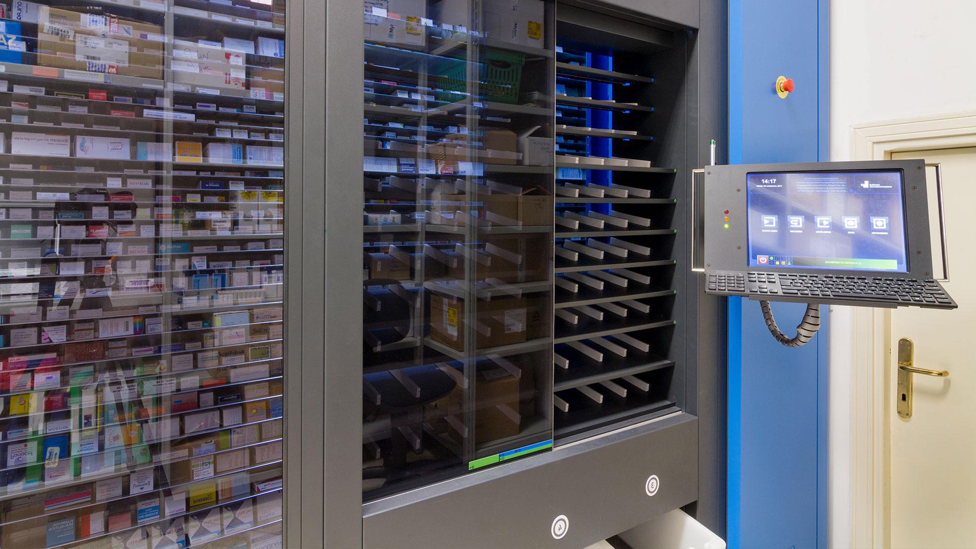 Magazzino automatizzato della Farmacia Urbani